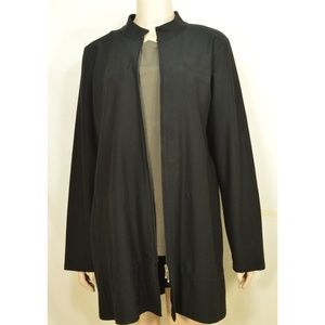 Eileen Fisher jacket L long pockets signature vis